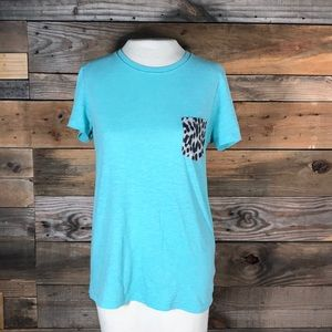VS Pink Cheetah print pocket t-shirt